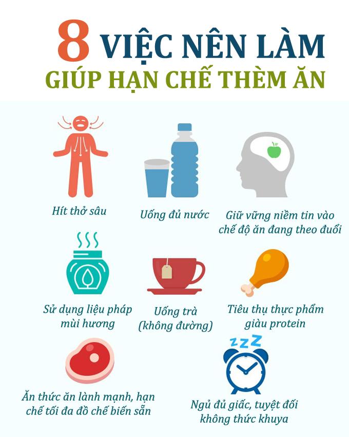 8 việc giúp giảm bớt cảm giác thèm ăn