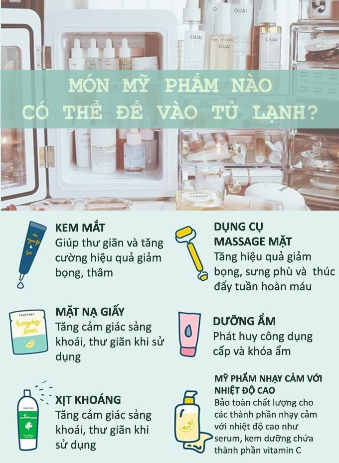 6 món mỹ phẩm có thể bảo quản trong tủ lạnh