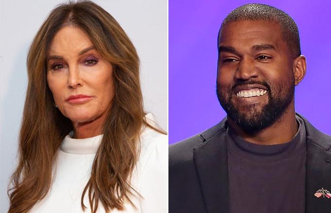 Bà Caitlynn Jenner (trái) và con rể Kanye West.