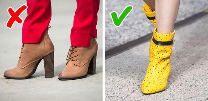 Ankle boots màu trung tínha