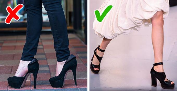 Giày cao gót không chắc chân a