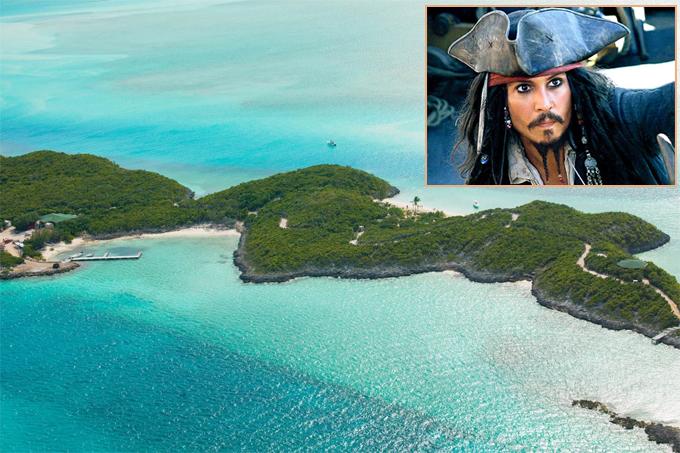 Đảo Little Halls Pond Cay của Johnny Depp.
