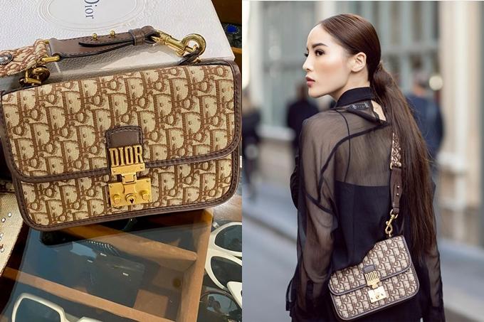 Một chiếc túi khác của Dior được Kỳ Duyên giới thiệu còn mới 99%, có giá 48 triệu đồng. Người đẹp từng sử dụng phụ kiện này trong một chuyến công tác ở Italy.