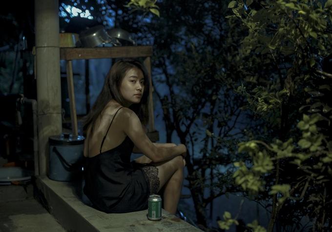 Hoàng Thùy Linh trong phim Trái tim quái vật.