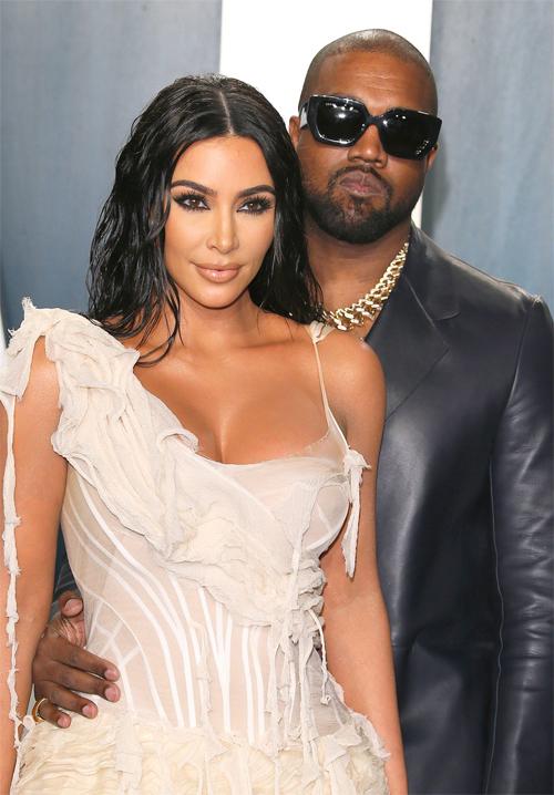 Kim Kardashian và Kanye West. Ảnh: AFP.