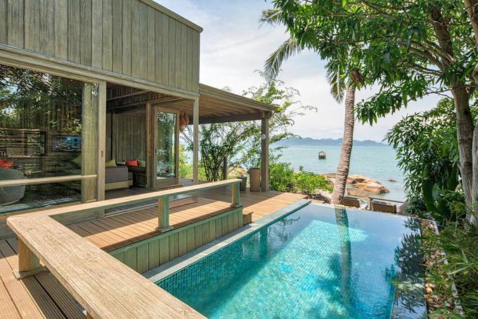 Vợ chồng Minh Nhựa check in resort  - 2