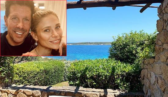 Bà xã Carla của HLV Atletico Madrid - Diego Simeone - đăng ảnh phong cảnh biển xanh, trời xanh cho thấy cả nhà đã check in ở một resort ven biển. Thảnh thơi, không nghĩ gì để tận hưởng thời gian bên gia đình ở đây, người đẹp hai con viết. Cựu danh thủ Argentina có ba con trai với vợ cũ và có hai con gái với Carla.