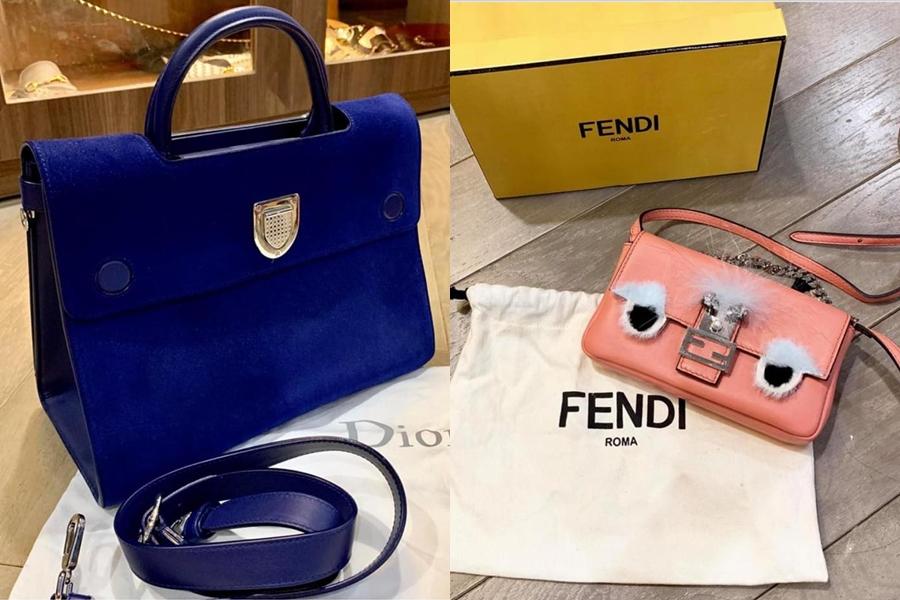 Một số món đồ được người đẹp điều chỉnh giá thấp hơn. Đơn cử, chiếc túi Dior màu xanh cô bớt 5 triệu so với ban gian đầu 45 triệu đồng. Mẫu túi đeo của Fendi hiện còn 12 triệu đồng dù mới 100%.