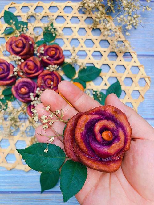 Khoai lang chiên hình bông hoa