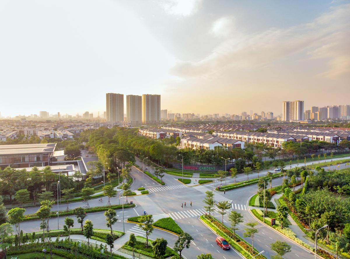Khu đô thị Gamuda Gardens thuộc dự án Gamuda City Hà Nội.