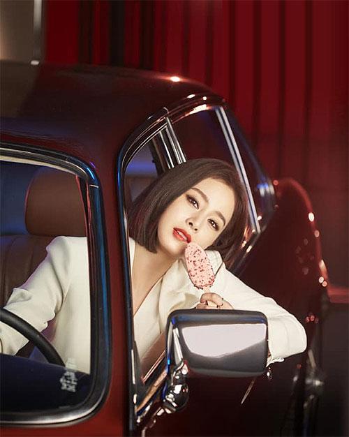 Kim Tae Hee trong quảng cáo kem.