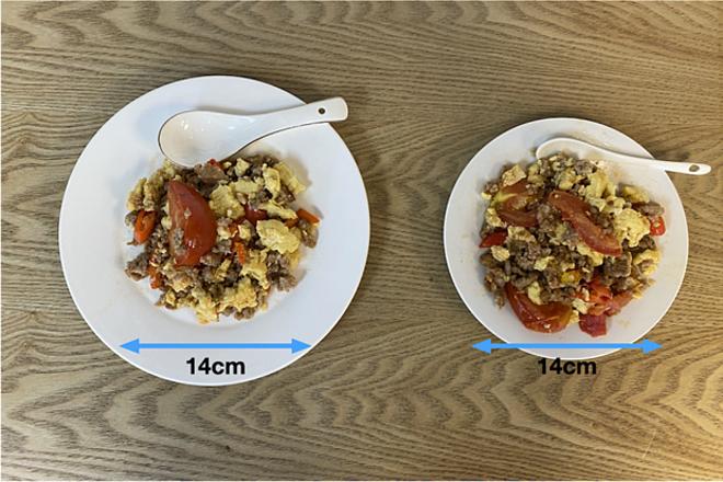 Dùng bát đĩa cỡ nhỏ sẽ giúp bạn có