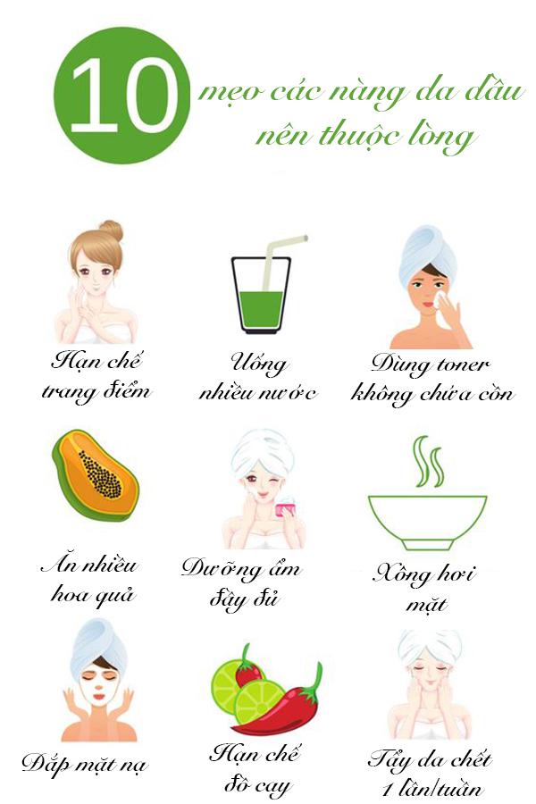 10 mẹo giúp da dầu không nổi mụn trong mùa hè