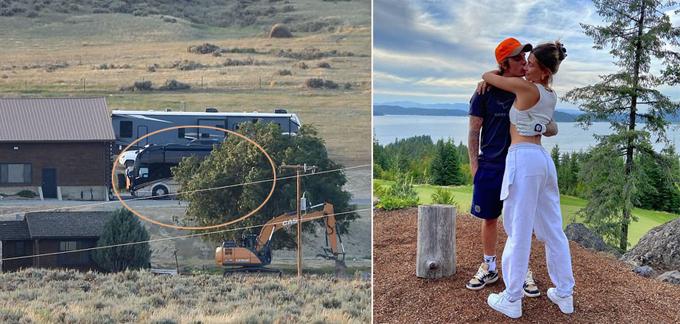Justin và Hailey đến điền trang của Kanye bằng chiếc xe du lịch đường trường 1 triệu USD.