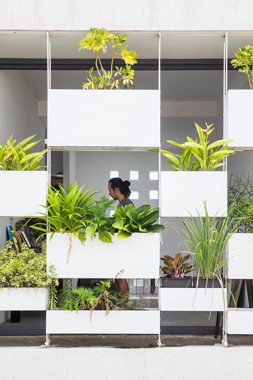 Mặt tiền của nhà đón ánh nắng trực tiếp từ phía Tây, môi trường xung quanh thiếu cây xanh, bao quanh là nhà ống điển hình của đô thị, có ít hoặc gần như không có vườn với mái bê tông hoặc mái tôn, mang cảm giác bức bí, ngột ngạt.