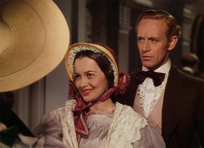 Olivia được yêu mến với vai Melanie trong phim Cuốn theo chiều gió.