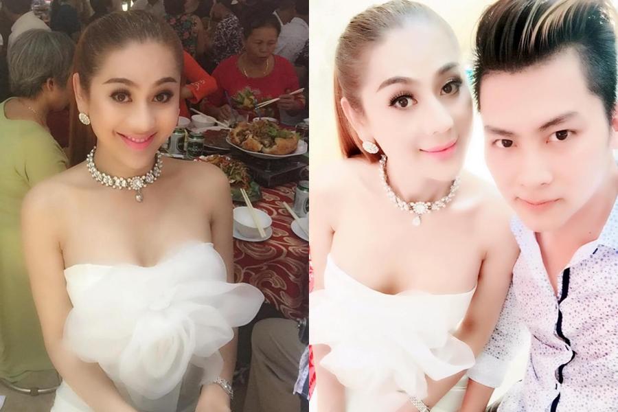 Thậm chí ngay khi đi ăn cưới ở quê chồng, Lâm Khánh Chi ăn mặc quá sexy so với người dân địa phương.