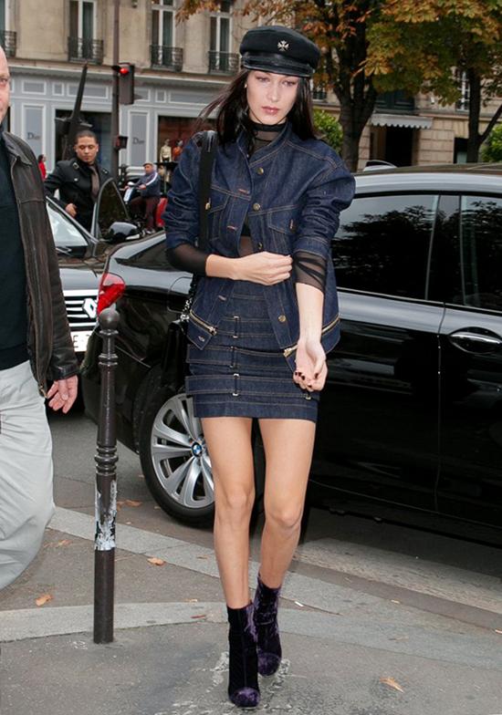 Diện chân váy ngắn linh hoạt như Bella Hadid - 7