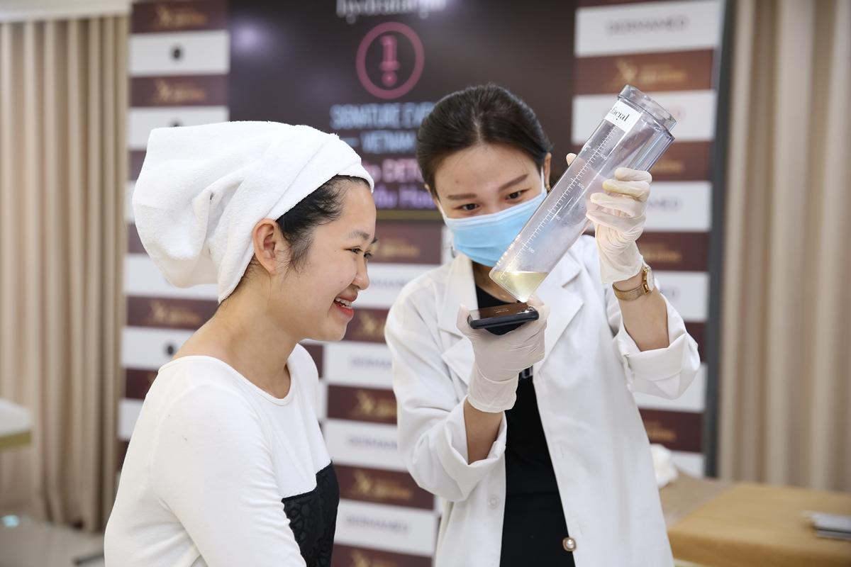 Đa số chị em hài lòng với kết quả detox da.
