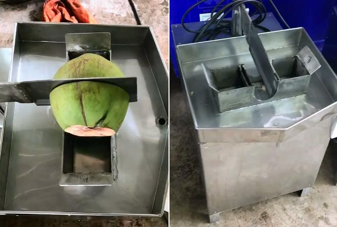 Máy chặt dừa ngọt như bổ táo - 1