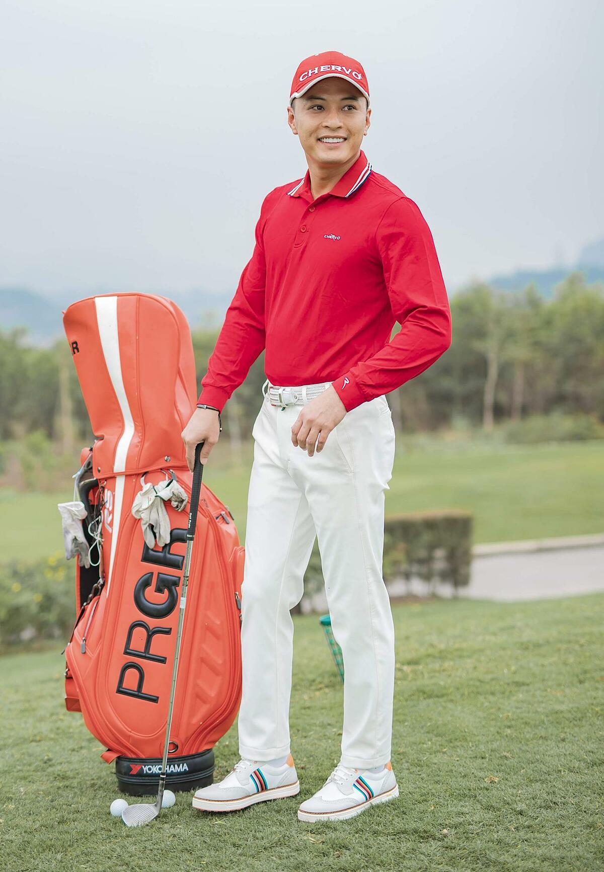 Hồng Đăng khẳng định, thời trang Chervo giúp anh tự tin, hoàn hảo hơn về phong cách trên sân golf.