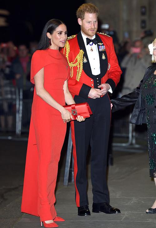 Harry và Meghan dự sự kiện ở London hồi đầu tháng 3, trước khi chuyển hẳn sang Mỹ. Ảnh: UK Press.