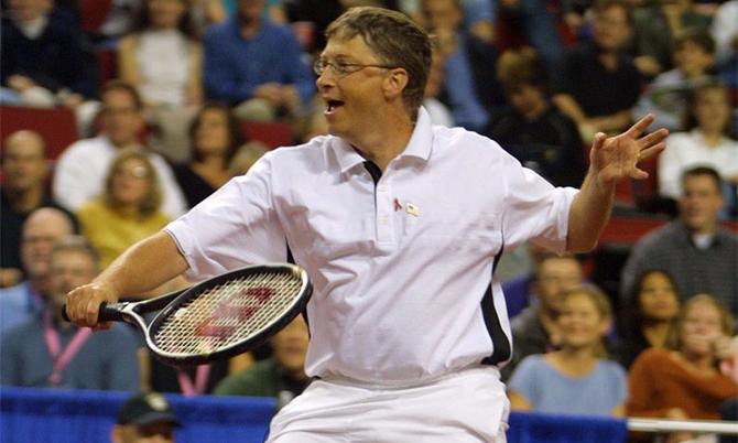 Tennis là bộ môn thể thao yêu thích nhất của tỷ phú Bill Gates. Ảnh: BI.