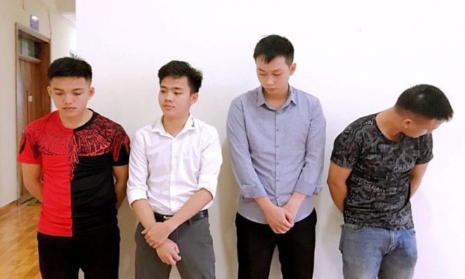 4 nghi can thời điểm bị bắt. Ảnh: C.A