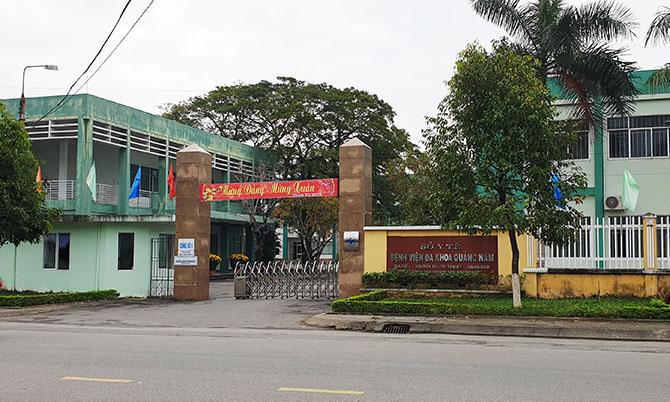 Bệnh viện Đa khoa Quảng Nam, nơi Thuận cách ly trước khi bỏ trốn. Ảnh: Sơn Thủy.