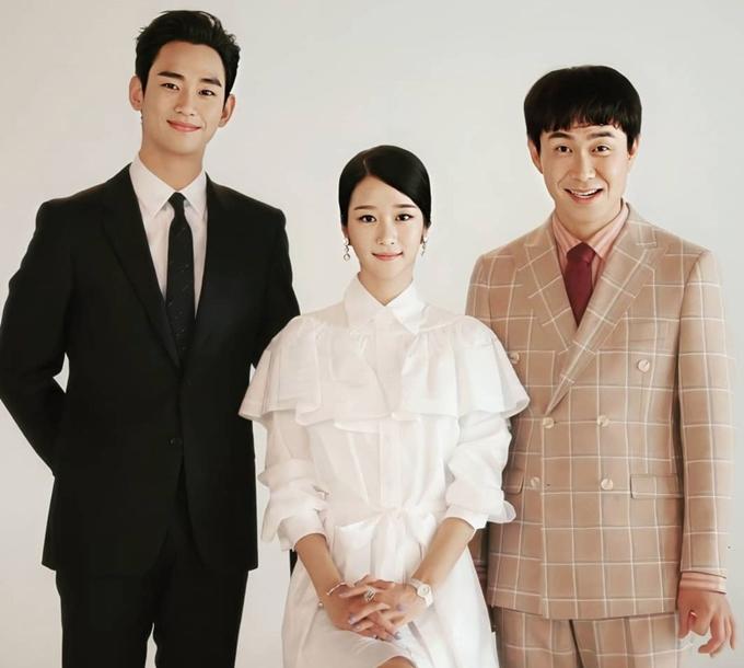 Bộ ba diễn viên chính của Điên thì có sao: Kim Soo Hyun, Seo Ye Ji, Oh Se Jung.