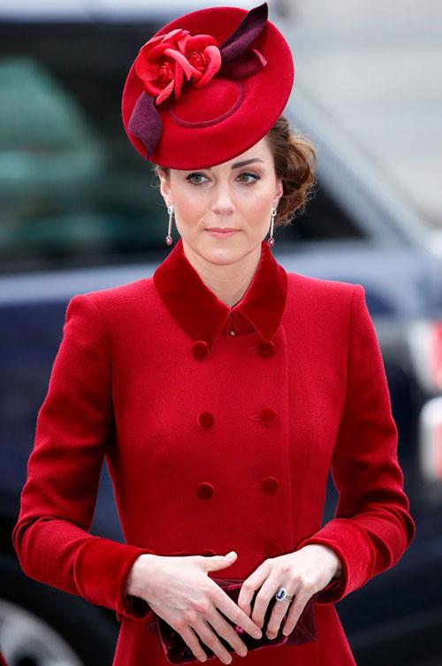 Kate dự ngày lễ của Khối thịnh vượng chung tại Tu viện Westminster hồi tháng 3. Ảnh: PA.