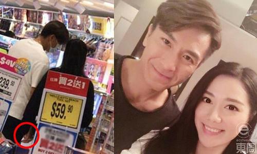 Mã Quốc Minh nắm tay bạn gái trong siêu thị
