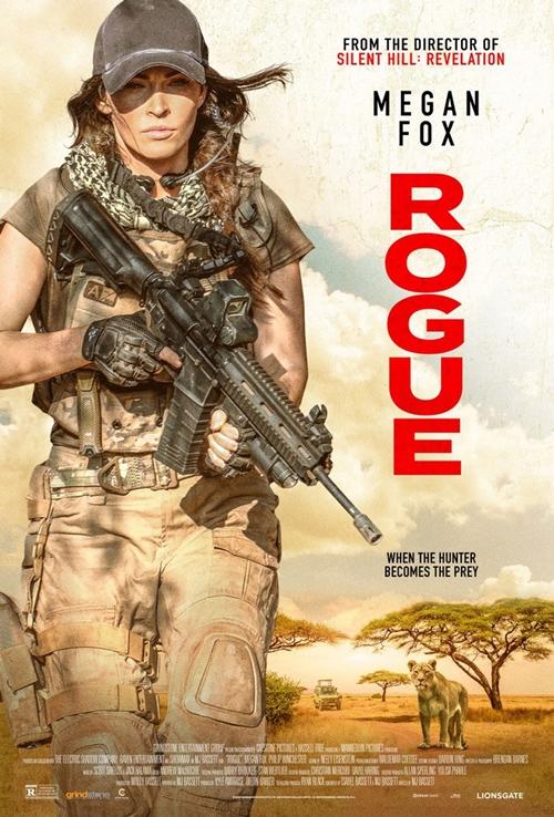 Phim hành động Rogue do minh tinh Megan Fox đóng chính, kể về một nhóm lính đánh thuê nhận nhiệm vụ giải cứu con gái một lãnh đạo cấp cao châu Phi khỏi sào huyệt của bọn bắt cóc. Vô tình giải cứu cả những con tin khác bị giam giữ tại đây, họ tự làm xáo trộn kế hoạch của mình. Phim dự kiến chiếu rạp từ 21/8.