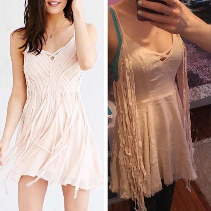 Cô gái này cười ra nước mắt trước mẫu váy nhái không thể  ẩu hơn.