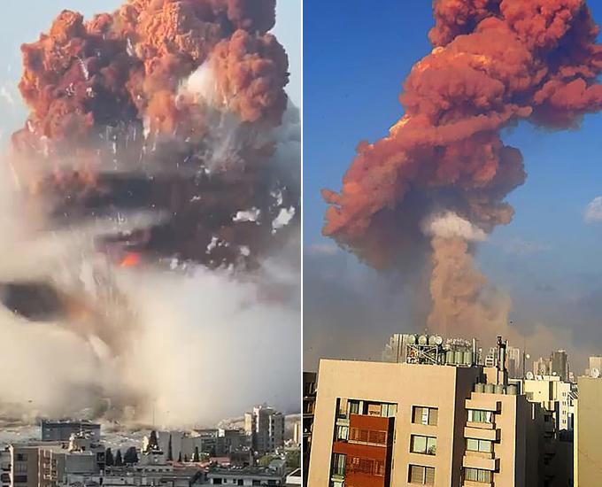 Cảnh khải huyền nhìn thấy một đám mây hình nấm màu đỏ cam dày đặc bao quanh các đường phố xung quanh cảng, nơi các tòa nhà bị đốt cháy và các phi hành đoàn khẩn cấp điên cuồng tìm kiếm đống đổ nát cho những người sống sót.