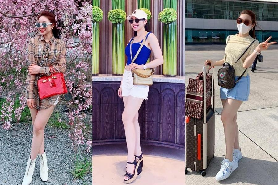 Phong cách thời trang đa dạng, phủ hàng hiệu của bạn gái Chi Bảo.