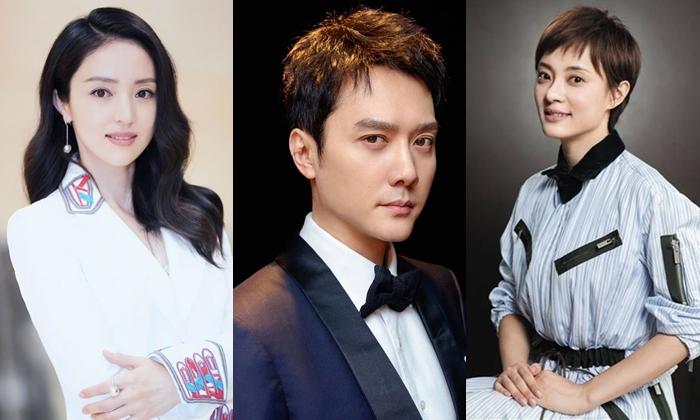 Đổng Tuyền, Phùng Thiệu Phong, Tôn Lệ (từ trái qua) đóng chính hai tập phim Khẩu trang.
