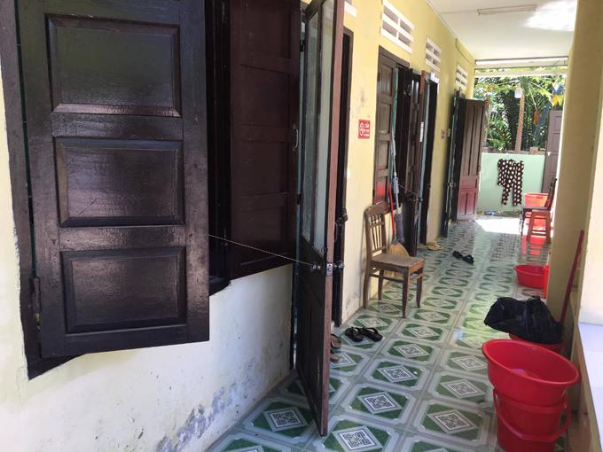 Khu nhà, nơi chị Lan cùng gia đình và 20 người thân đang cách ly ở Hội An. Ảnh: NVCC.