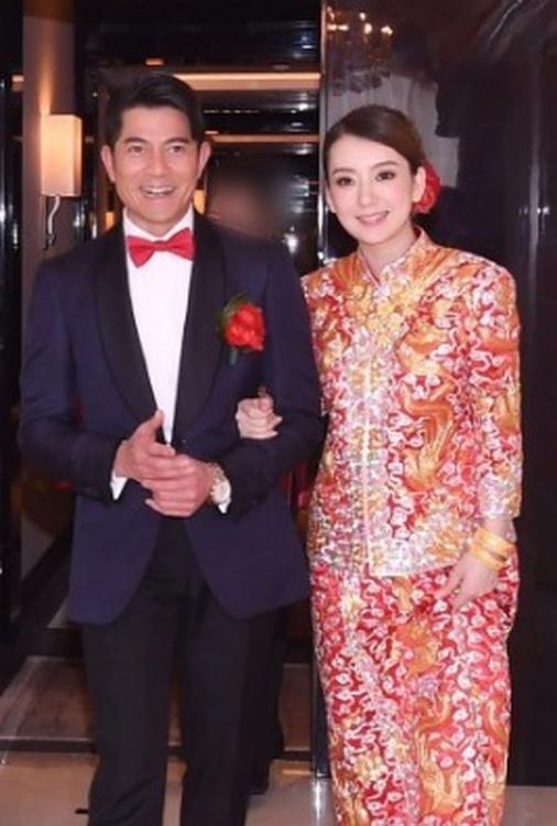 Moka và Quách Phú Thành tỏng ngày cưới năm 2017.