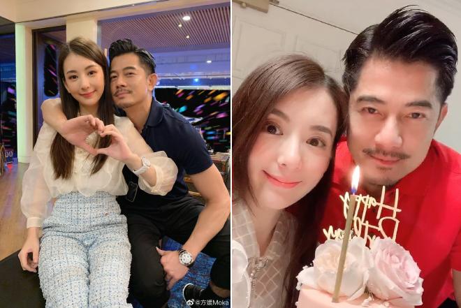 Cử chỉ của Quách Phú Thành cho thấy anh yêu vợ rất nhiều.