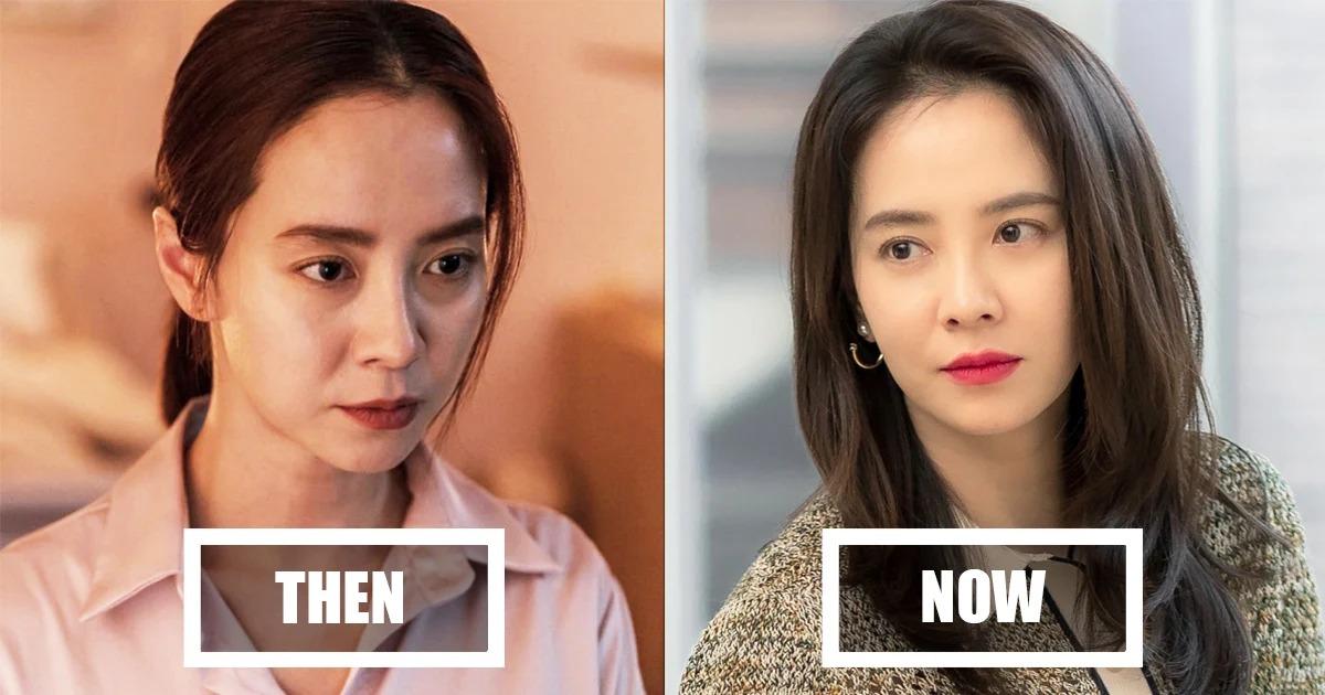 Diện mạo của Ji Hyo trong phim và sau khi phim đóng máy.