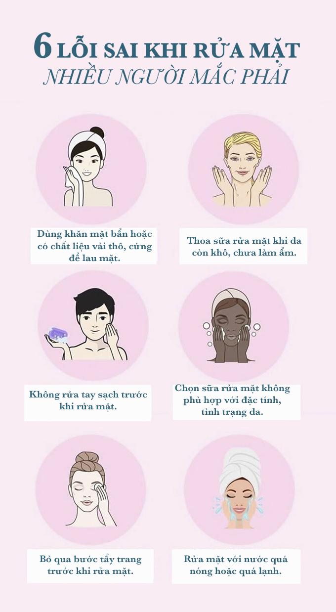 6 thói quen khi rửa mặt làm hại da