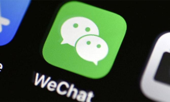 Biểu tượng ứng dụng WeChat trên kho ứng dụng. Ảnh: Reuters.
