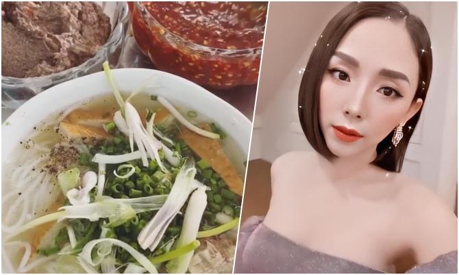 Tiệm bún cá ở Nha Trang khiến Tóc Tiên ăn một lúc hai phần điểm tâm