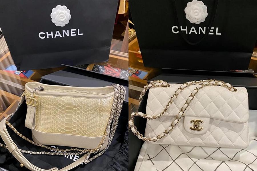 Nổi bật trong lần thanh lý này là hai chiếc túi Chanel được Kỳ Duyên giới thiệu mới 100%, đẩy đủ hóa đơn, card. Giá trị sang tay của chúng lần lượt là 99 và 93 triệu đồng.