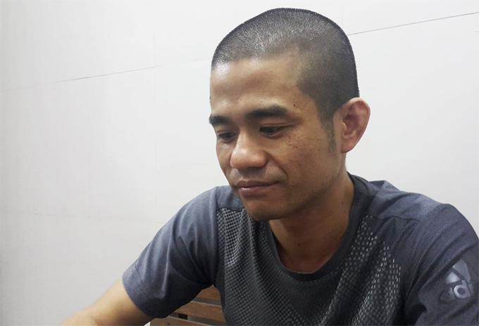 Lê Ngọc Sơn lúc bị bắt hồi tháng 10/2018.