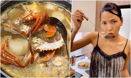Minh Triệu nấu lẩu cua biển đãi Kỳ Duyên