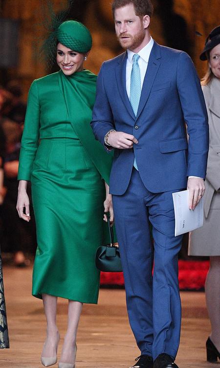Nhà Sussex trong sự kiện hoàng gia cuối hôm 9/3 tại tu viện Westminster Abbey. Ảnh: Rex.