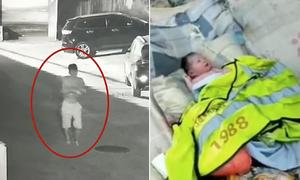 Bé sơ sinh bị cha mẹ bỏ cạnh thùng rác