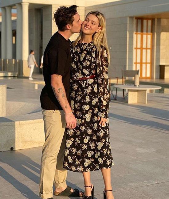 Brooklyn và vợ sắp cưới tình tứ trong bức ảnh người đẹp chú thích: baby b. Ảnh: Instagram.